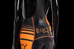 TORQ Womens Bib Shorts Rear Angle